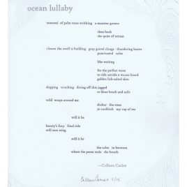 Ocean Lullaby (Colleen Carias)