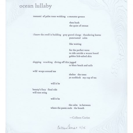 Ocean Lullaby Broadside
