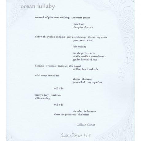 Ocean Lullaby Broadside